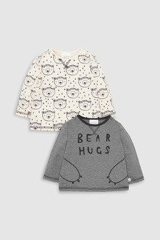 Bear T-Shirts Two Pack (0mths-2yrs)