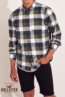 Hollister Green Check Shirt