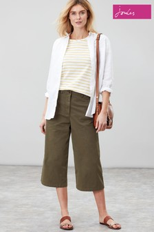 Joules Green Compton Wide Leg Trousers