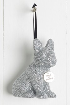Sparkle Bulldog Hanging Decoration