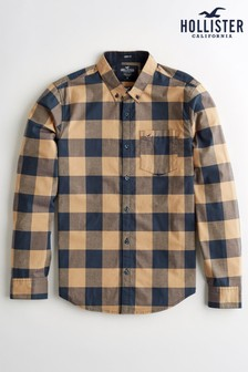 Hollister Yellow Check Shirt