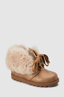 Faux Fur Character Boots (Younger)