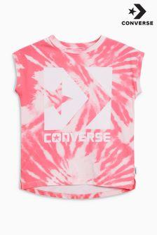 Converse Pink Tie Tee