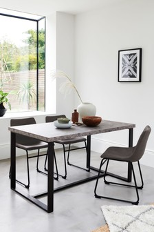 Bronx Concrete Effect Dining Table