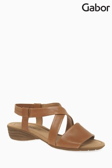 Gabor Brown Leather Sandal