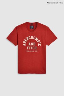 Abercrombie & Fitch Red Logo T-Shirt