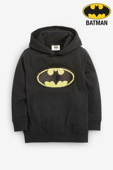 Batman® Long Sleeve Hooded Top (3-16yrs)