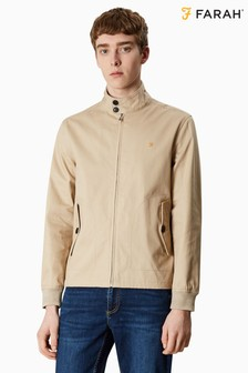 Farah Brown Hardy Harrington Jacket