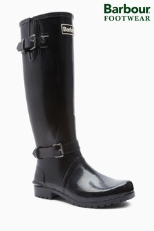 Barbour® Black Gloss Cleveland Tall Wellington Boot