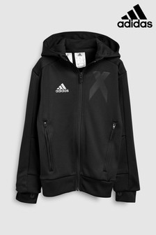 adidas Black X Full Zip Hoody