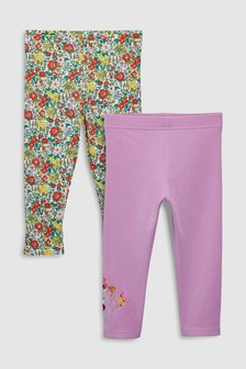 Floral Leggings Two Pack (3mths-6yrs)