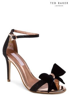 Ted Baker Black Bowdalo Strappy Heeled Sandal