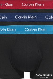 Calvin Klein Black Low Rise Trunk Three Pack