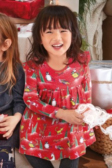 Christmas Print Dress (3mths-6yrs)