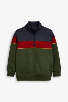 Colourblock Half Zip Jacket (3-16yrs)