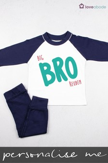 Personalised Big Bro Pyjamas by Loveabode