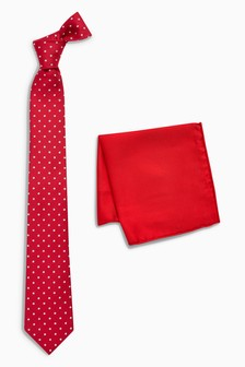 Spot Signature Tie And Pocket Square