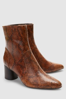 Cylinder Heel Boots