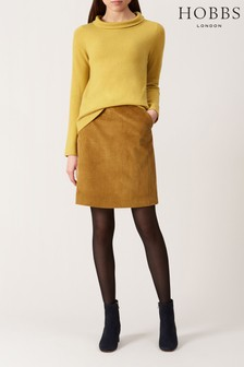 Hobbs Yellow Hannah Skirt