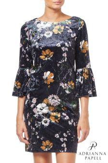117374997baa63 Adrianna Papell Black Serene Garden Metallic Ruffle Dress