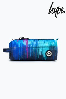 Hype. Blue Neon Drips Print Pencil Case