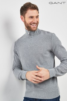 GANT Honeycomb Half Zip Sweat