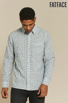 FatFace Blue Farlington Fern Print Shirt