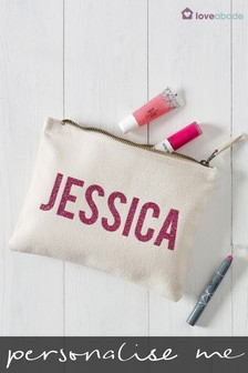 Personalised Glitter Pencil Case by Loveabode