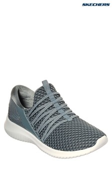 Skechers® Grey Knit Vamp Bungee Slip-On With AirCooled MF