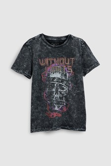 Acid Washed Graphic T-Shirt (3-16yrs)