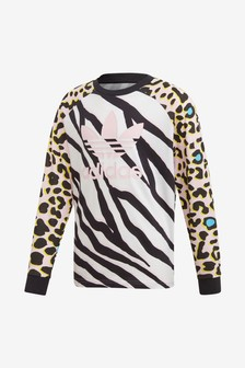 adidas Originals Animal Print Long Sleeve T-Shirt