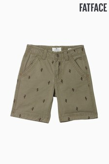 Pantalones cortos verdes con cactus y parte delantera plana Ellis de FatFace