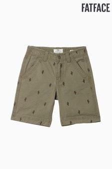 FatFace Green Ellis Cactus Flat Front Short