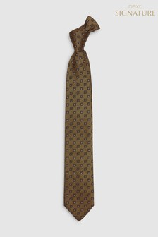 Signature Made in Italy Patterned Tie
