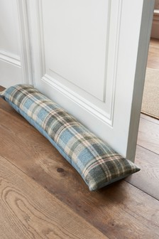 Wool Moorland Glencoe Check Draught Excluder