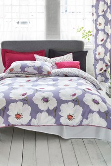 Elisse Floral Duvet Cover and Pillowcase Set
