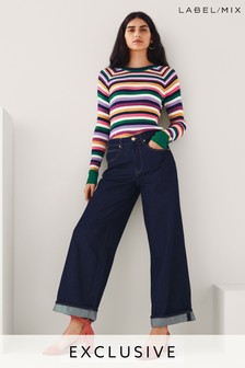 Mix/King & Tuckfield Wide Leg Jeans