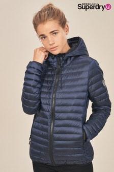 Однотонная куртка-пуховик с капюшоном Superdry