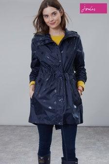 Joules Golightly Printed Waterproof Packaway Coat