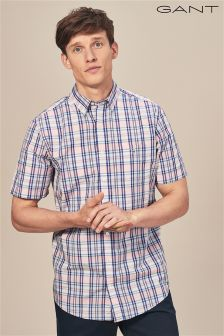 GANT Pink Broadcloth Check Shirt