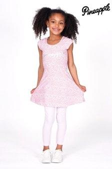 Pineapple Leopard Print Dress & Legging Set