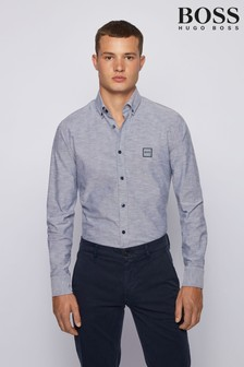 BOSS Mabsoot Oxford Logo Shirt