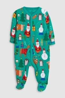 Christmas Character Print Sleepsuit (0mths-2yrs)