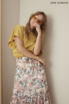Желтая атласная блузка Sofie Schnoor