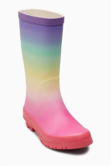 Ombre Rainbow Wellies (Older)