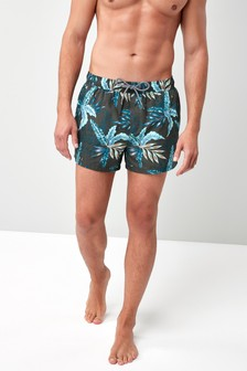 Shorts con stampa floreale