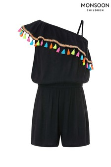 Monsoon Black Falon Playsuit