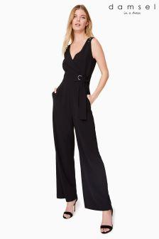 Damsel Black Zena Jumpsuit