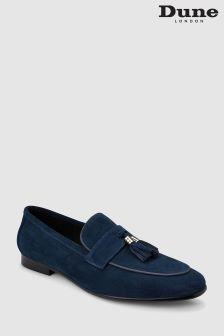 Dune Navy Suede Passengers Loafer