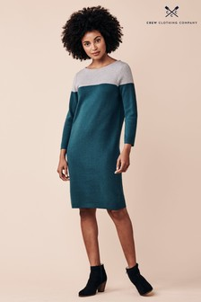 Crew Clothing Company Green Milano Dress